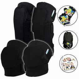 Kids Protective Gear Set Toddler Knee And Elbow Pads Plus Bi