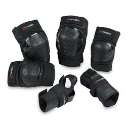 Knee Pads Elbow Wrist Guards Protective Gear Set for Skatebo