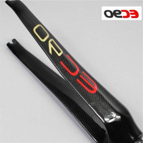 "EC90 Superlight Carbon Fiber 700C Road Bike Bicycle Fork 1-1//8/"" Threadless 100mm"