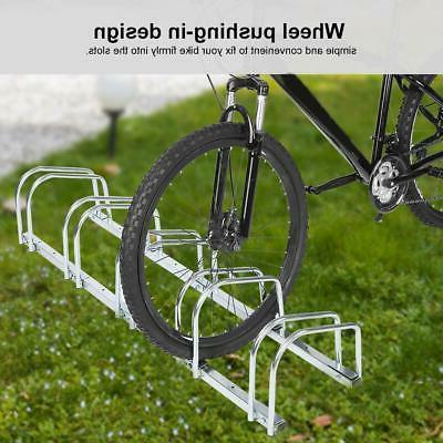Bicycle Floor Parking Rack Storage Stand 1/4/5 Bike Racks Ho