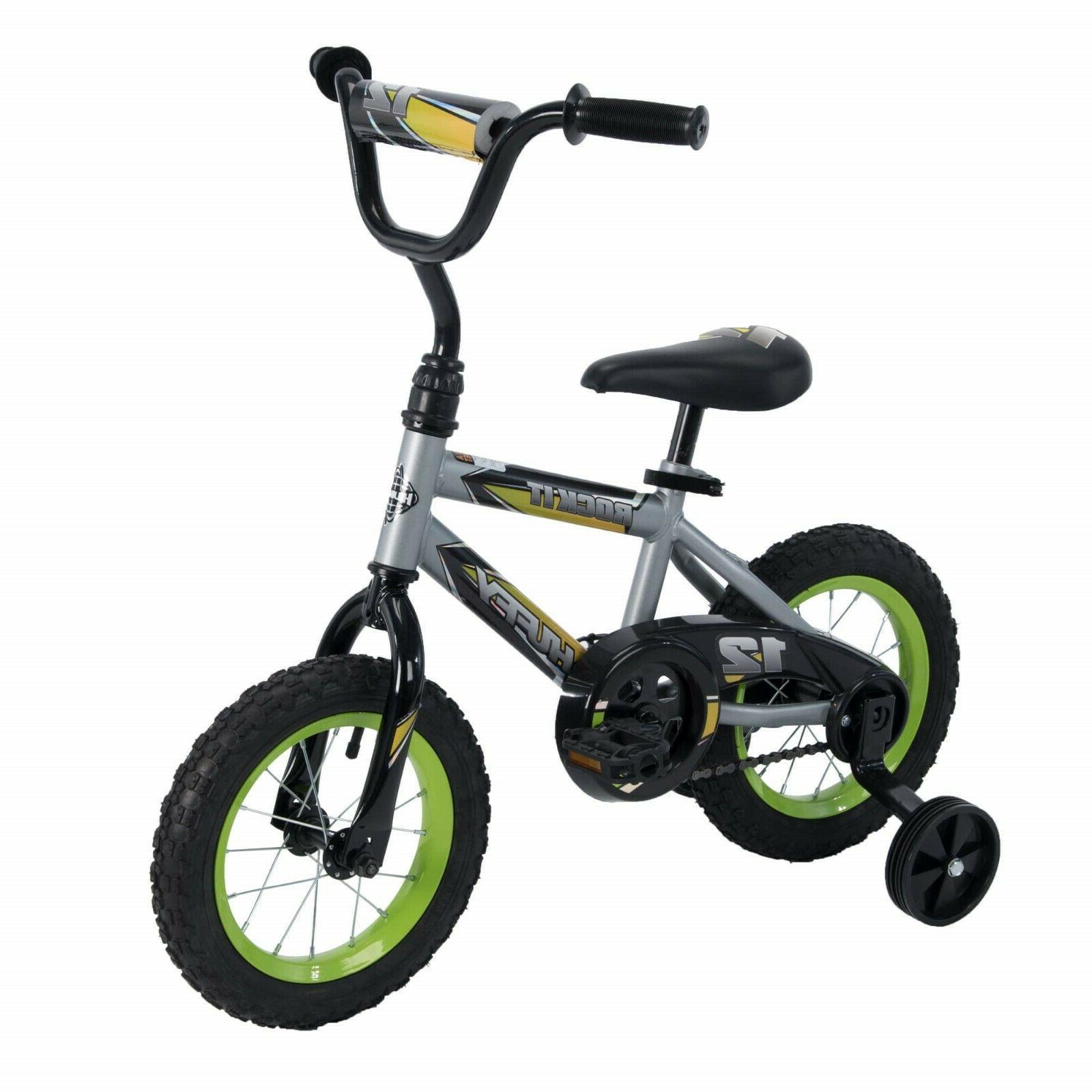 "12"" Boys Rock It Bike Bicycle Kids Single Speed Bike Coaster"