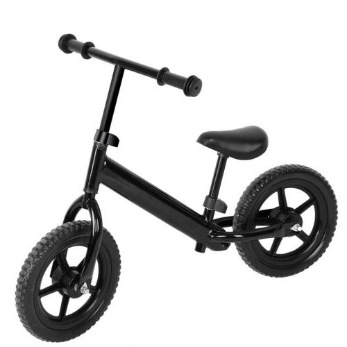 "12"" Kids Balance Bike Classic No-Pedal Learn Ride Adjustable Seat"