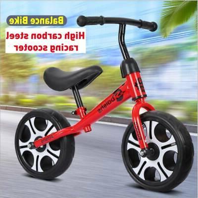 """12"""" Balance No Pedal Bicycle Adjustable Seat Walking"""