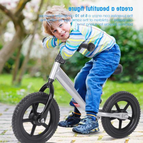 12'' Wheel Carbon Kids Bicycle No-Pedal Bike Colors US