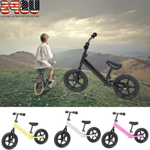 12'' Wheel Carbon Steel Kids Balance Bicycle Children No-Ped