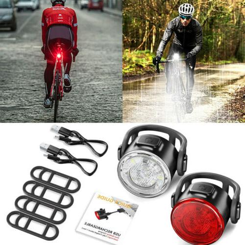Rechargeable 12LED Bike Bicycle Light USB Waterproof Cycle F