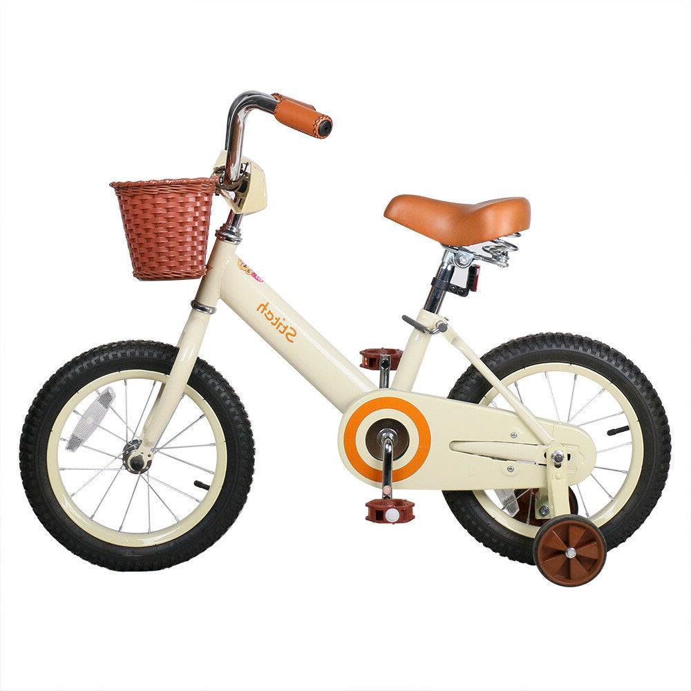 JoyStar 14 Inch Vintage Kids Bike for Girls with Front Baske