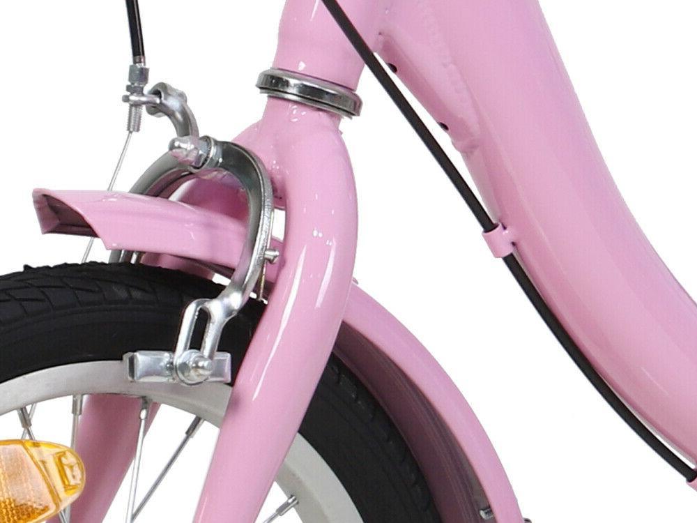 14 Kid 3-Wheel Tricycle Bicycle pink bike w/Shopping&Pet 6-12year