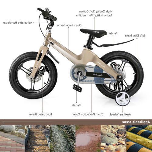 "Allek Magnalium Alloy Kids 16/'/' Bike w//Training Wheels 16/"" BMX Bike US Ship"