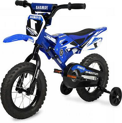 12 Inch CHILDS BMX BIKE Yamaha Motocross Bicycle Training Wh