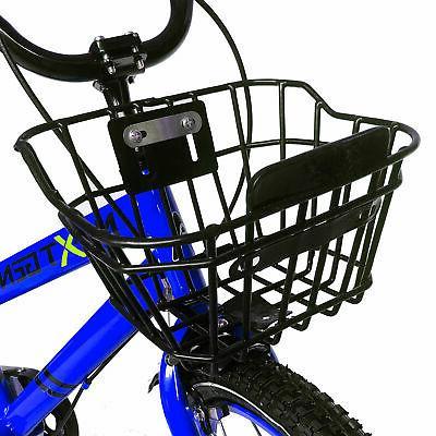 NextGen 16 Kids Bike Training Wheels Basket, Blue