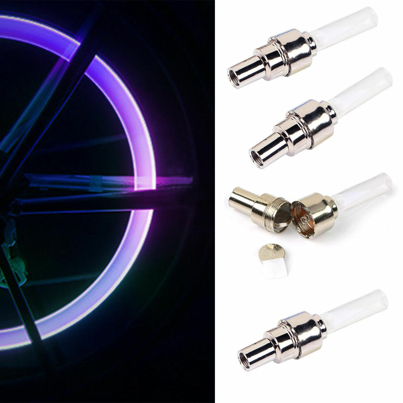 2Pcs/4PCS LED Tyre Tire Valve Bulb Bike