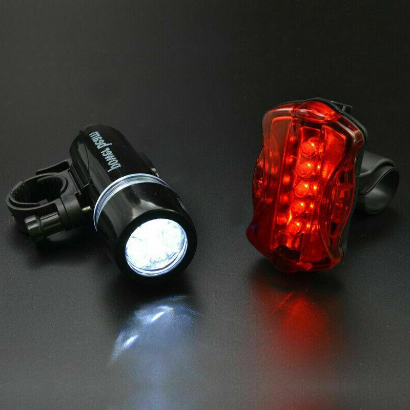 2 LED Lamp Bike Front Head Flashlight