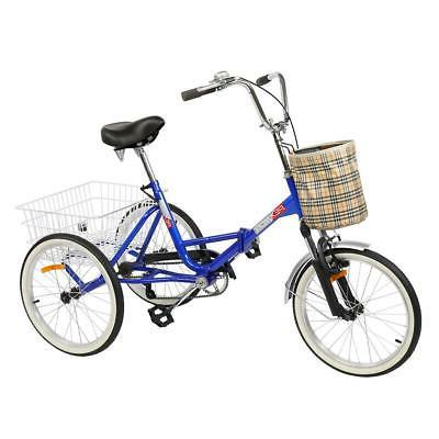 """20""""/24""""/26"""" 1/7 Speed Adult Trike Tricycle 3-Wheel Bicycle for"""