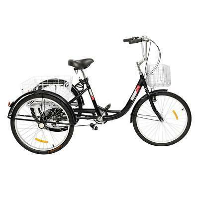 "20""/24""/26"" 1/7 Speed Adult Trike 3-Wheel Bicycle Shopping"
