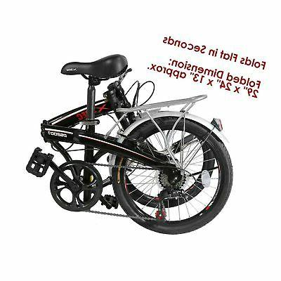 "Xspec 20"" 7 Speed City Folding Compact Bike Bicycle"
