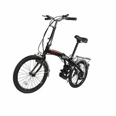 20 7 speed city folding compact bike