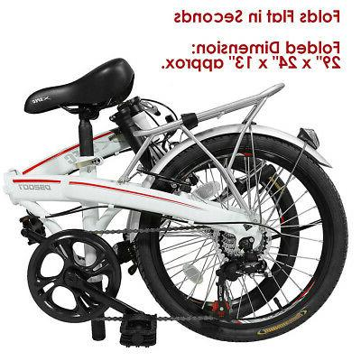 "Xspec 20"" 7 Speed City Bike White"