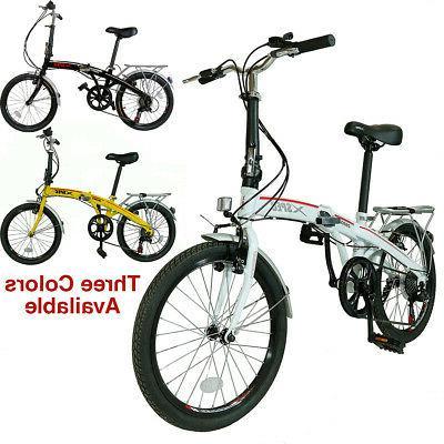 """Xspec 20"""" 7 City Folding Compact Bike Commuter"""