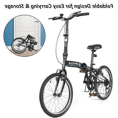 "20"" 7-Speed Folding Bike Iron Frame"