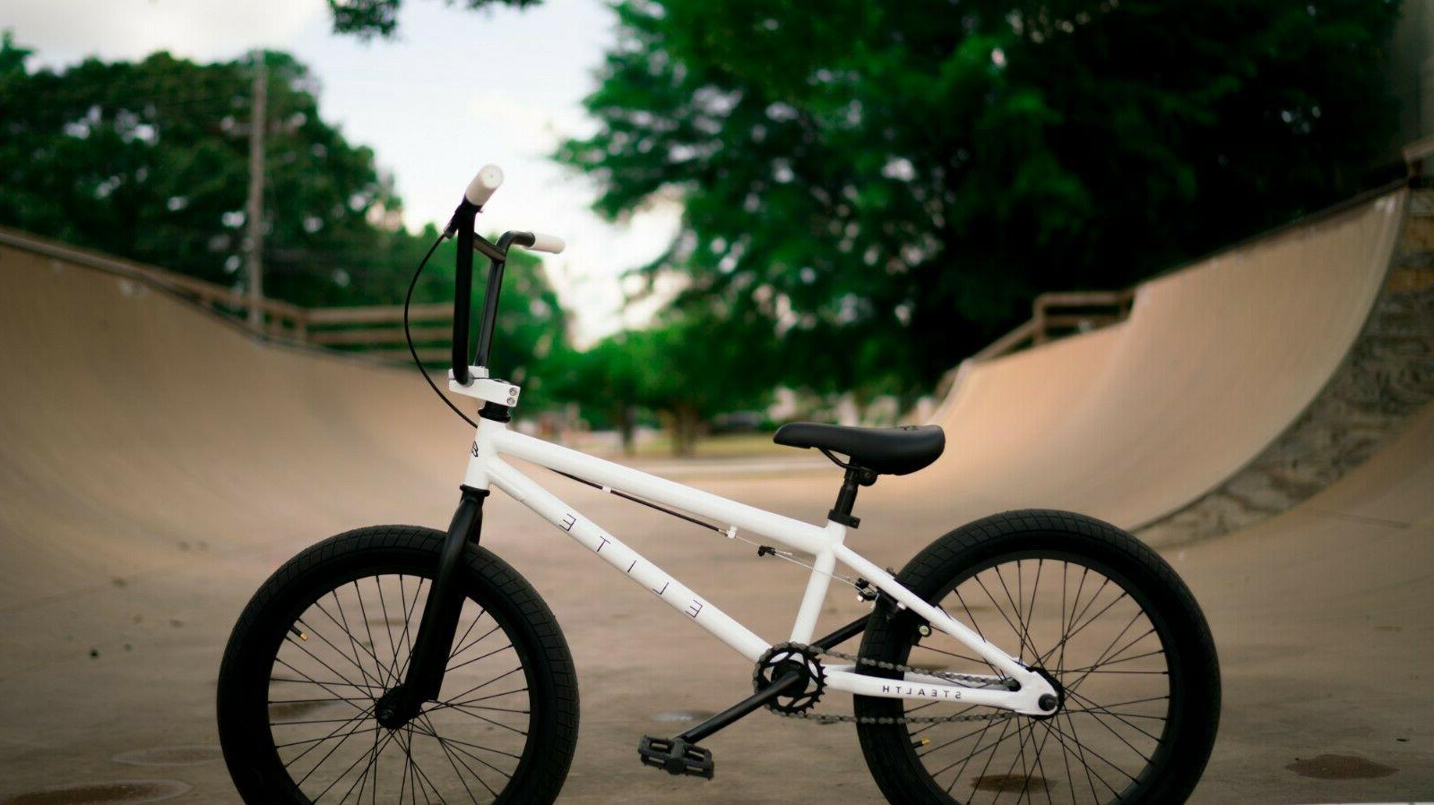 Elite BMX Stealth Freestyle White NEW 2020 1-Piece