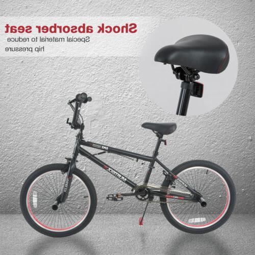 "20/"" Boys Freestyle BMX Bike Bicycle Black /& Red Antiskid Tire Sports"