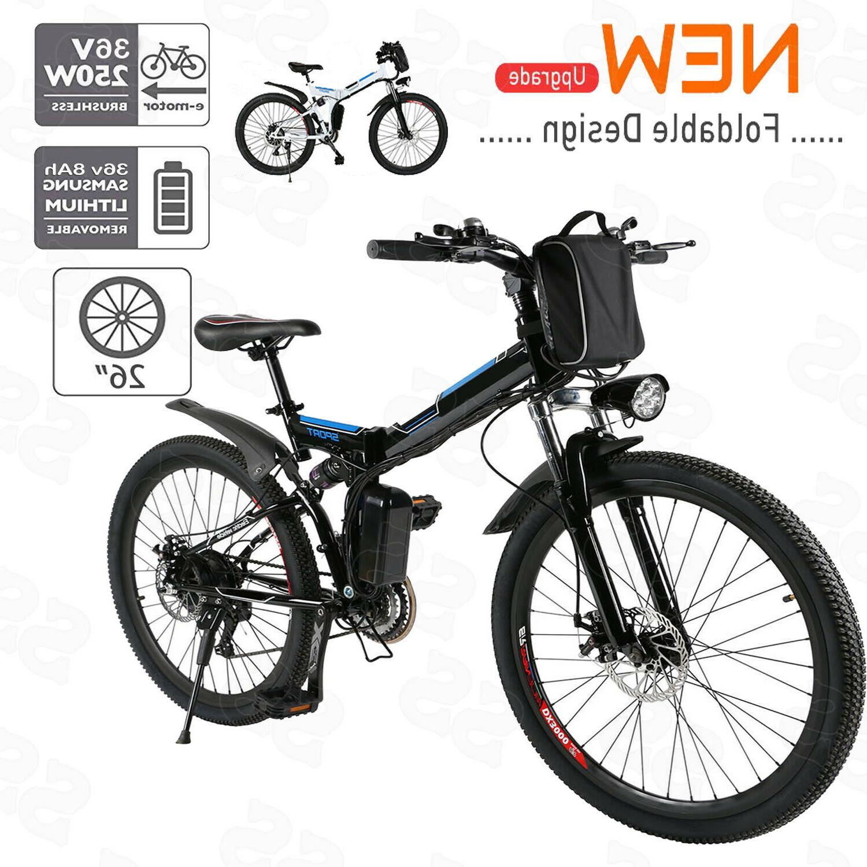 "26"" 20"" 36V 350W Aluminum Folding Electric Mountain Bike Bic"