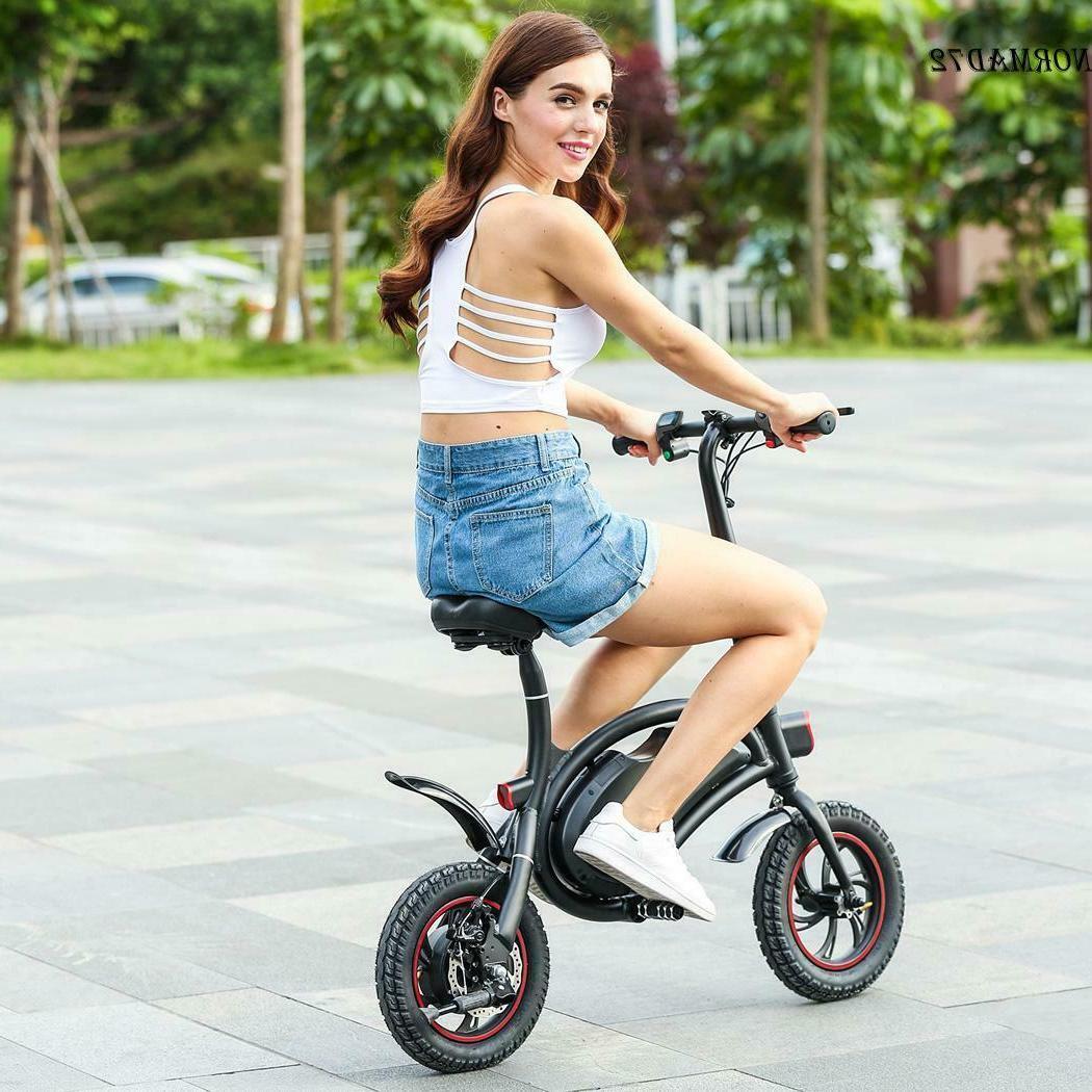 """20"""" Electric Bicycle Mountain Bike Fat Tire Folding E-bike+3"""