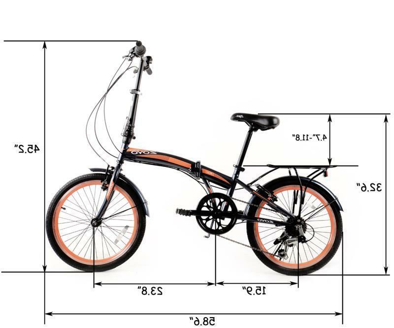 ZOYO Folding Folding Bicycle Kids Adult 7Speed