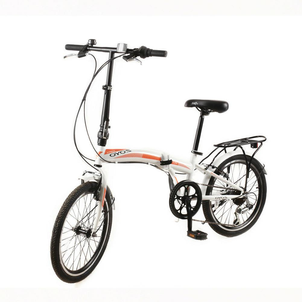 20'' Folding Bike Bicycle Kids Adult Shimano 7 Hybrid