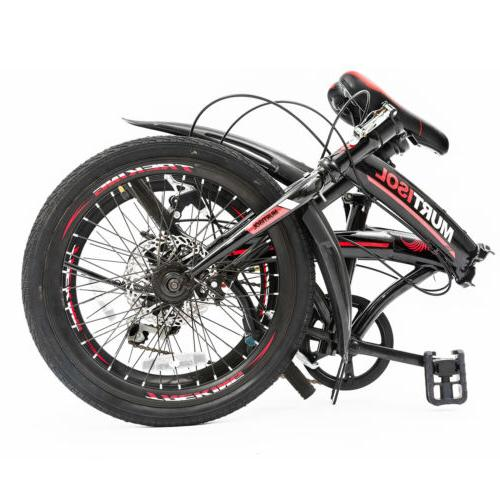 "20"" Folding Front Suspension Speeds Sports Bicycles Shimano"