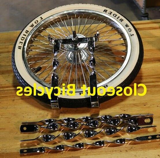 "NEW TWISTED CONTINENTAL KIT SPARE LOWRIDER 20/"" BICYCLES CHROME"