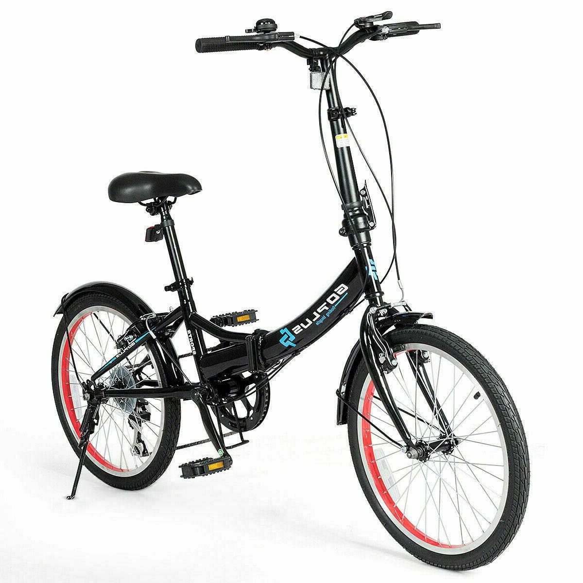 20 Inch Folding Bike for Adult Men and Women Teens, 7 Speed