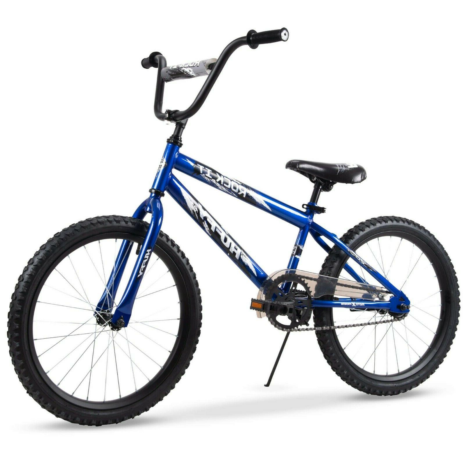 Kids Bike Bicycle Blue 20 Inch Wheels Child Boys Adjustable