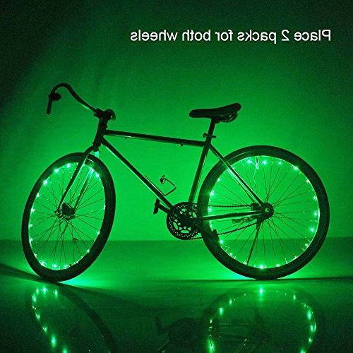 Soondar Super Bicycle Bike Rim Lights, Green