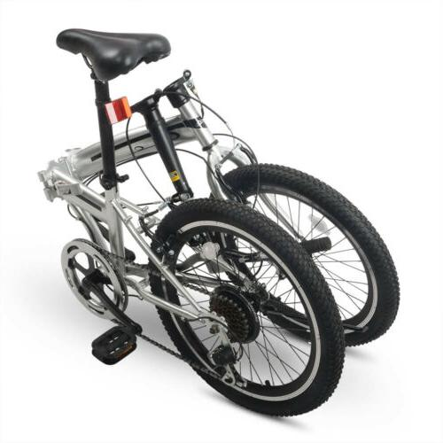 "20"" Wheel Folding Bike Bicycle Gear Steel Foldable"