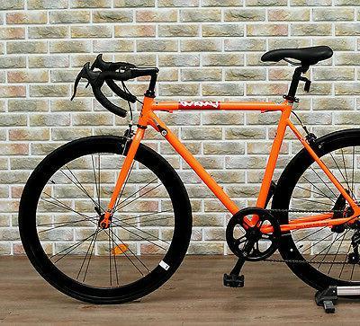 2016 DIOKO black orange fixie bike