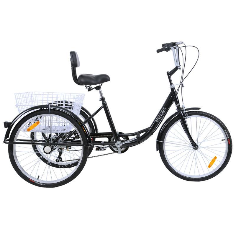 24 adult tricycle 3wheel shimano 7 speed