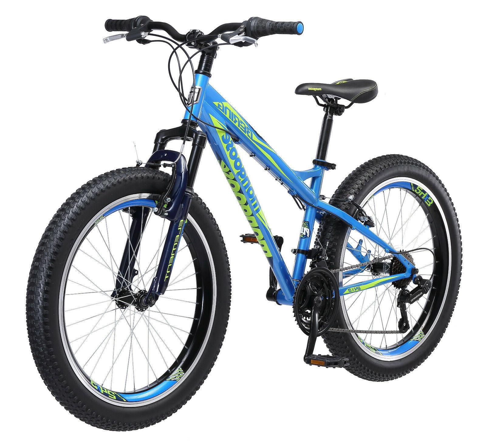 24 bering boys mountain bike blue