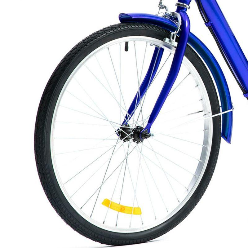 24 Trike 8 Speed Tricycle Blue for Shopping