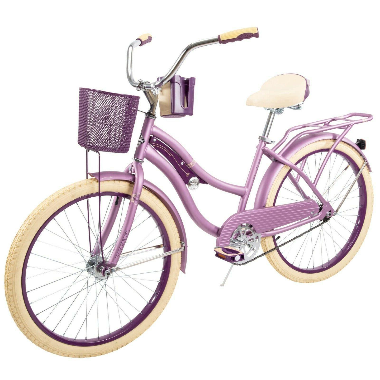 "Huffy 24"" Nel Lusso Girls' Cruiser Bike, Purple Satin FREE S"