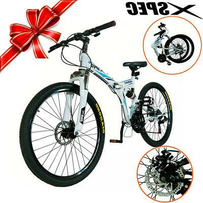 Xspec Folding Mountain Bike Bicycle Trail Shimano