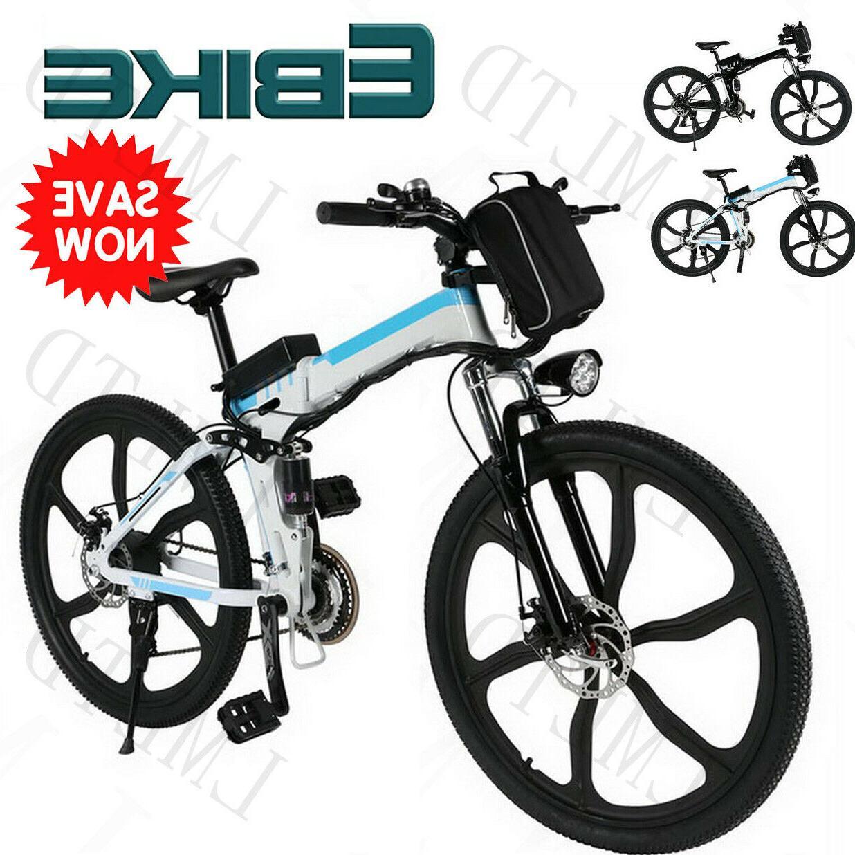 250W Power E-Bike 26 Inch Folding Electric Bicycle Bike 6-Sp