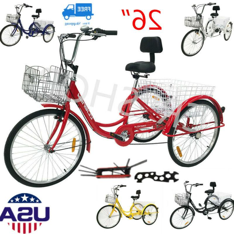 26 7 speed adult 3 wheel tricycle