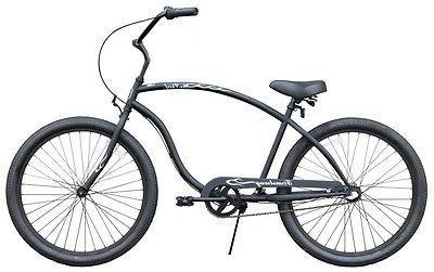 26 beach 3 speed cruiser bike w