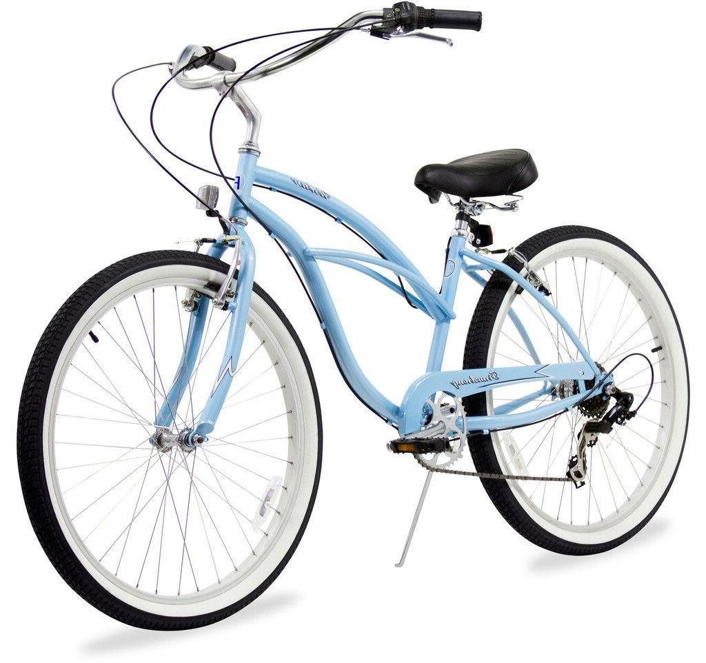 "26"" Beach Cruiser Bike Bicycle Firmstrong Urban women 7 spd"
