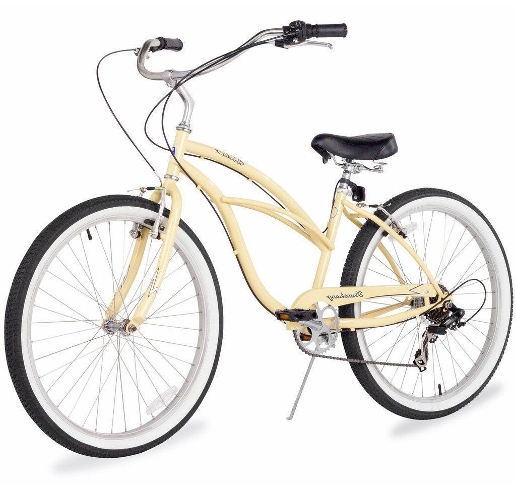 "24"" Cruiser Bike Bicycle Urban women 7 speed Mint"