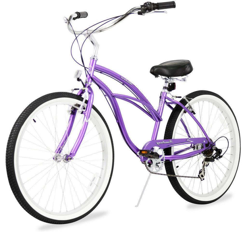 """24"""" Beach Cruiser Bike Bicycle Urban 7 Mint"""