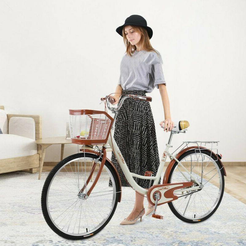 🔥 Women's Cruiser Bike - Beige FREE