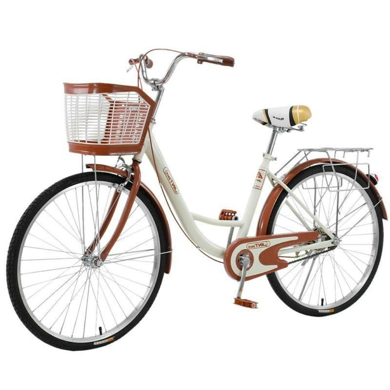 26 bicycle women s cruiser bike beige